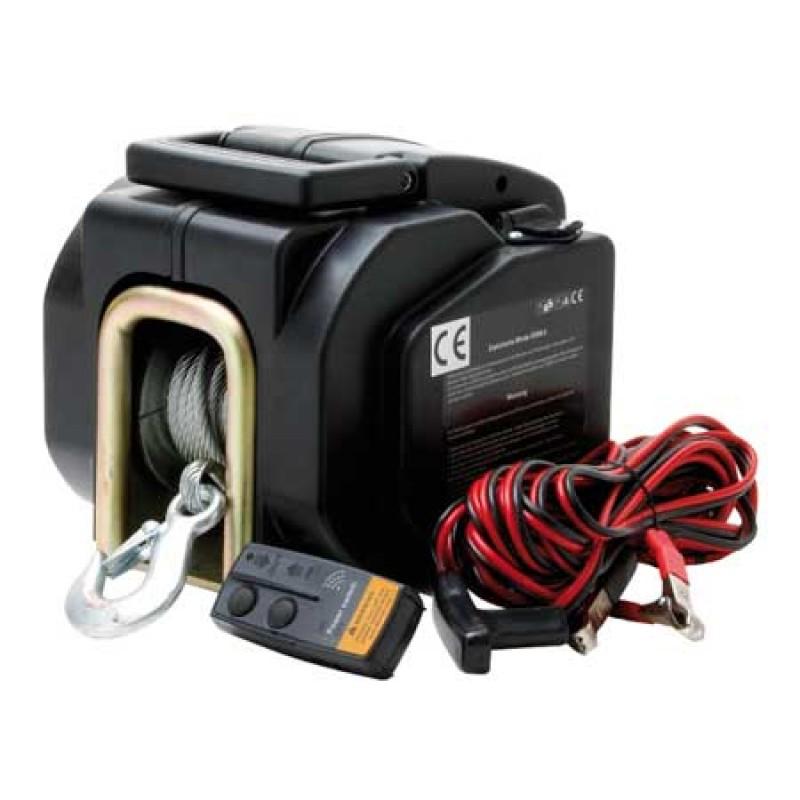 Cabrestante Eléctrico control remoto sin cables 12v 1600KG