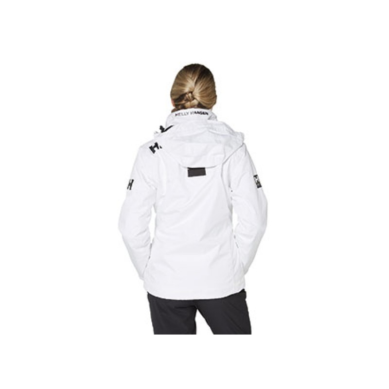 Helly Hansen Crew Midlayer Jacket Woman WHITE-M