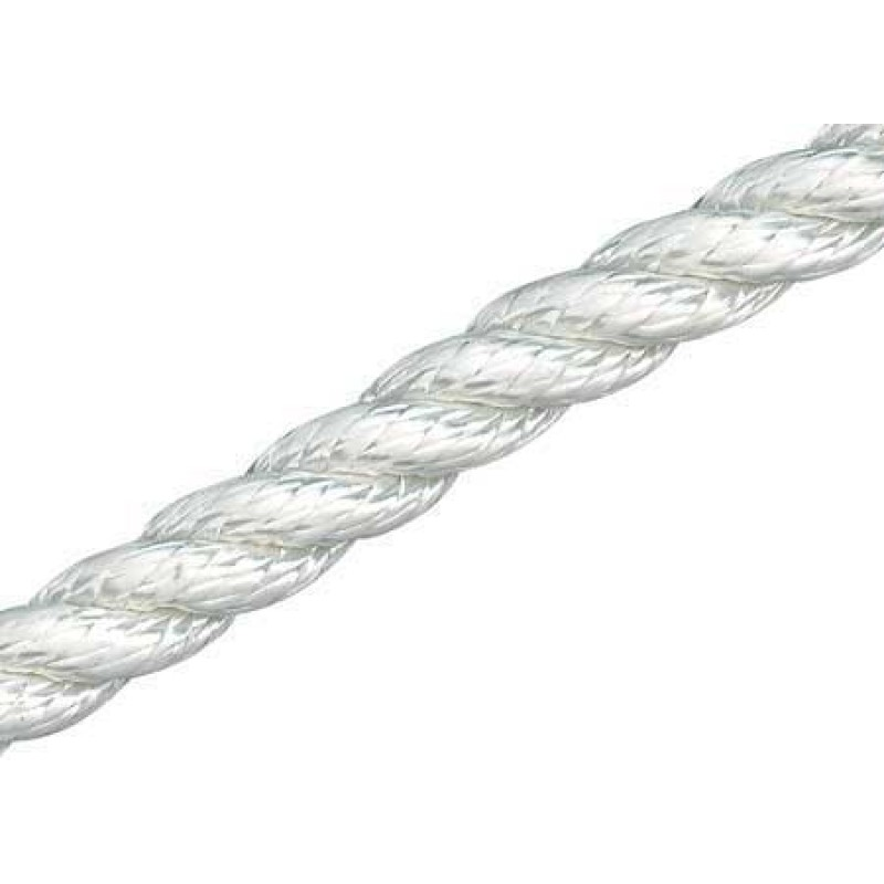 3-strand medium tenacity Polyester dock and anchor line 100 m x 24 mm