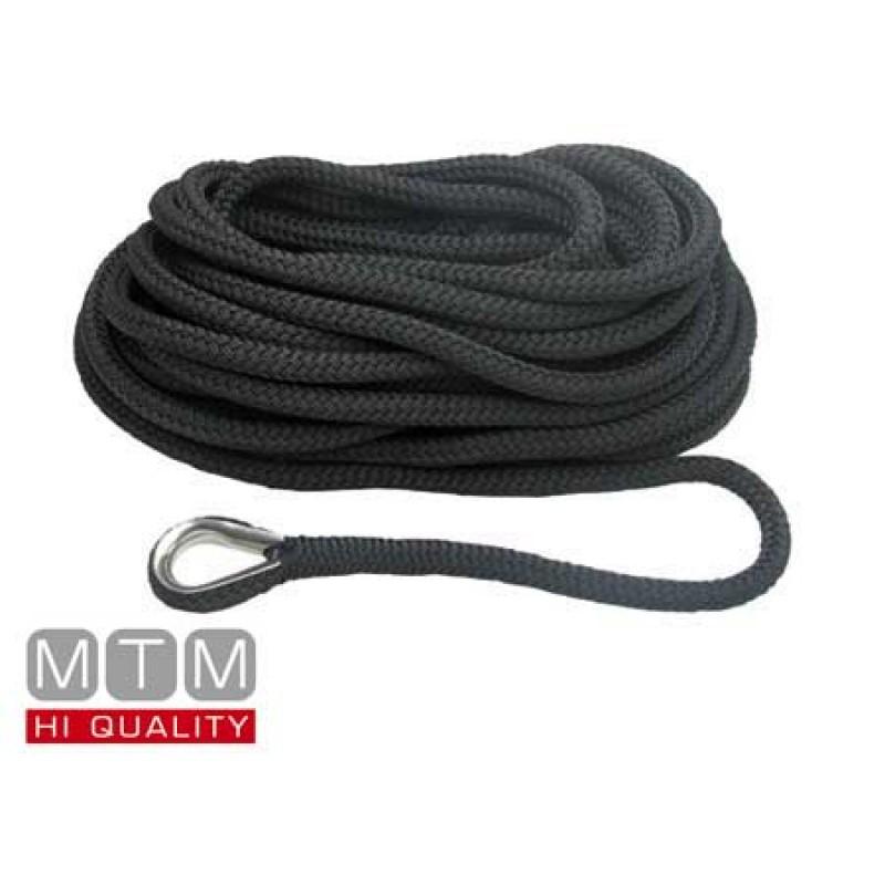 Línea de Amarre Negro 16mm X 10m guardacabo