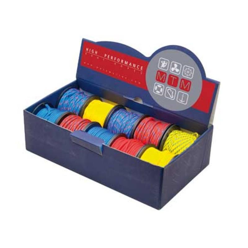 Polypropilene braid mini-spools Yellow 3MM 15MT