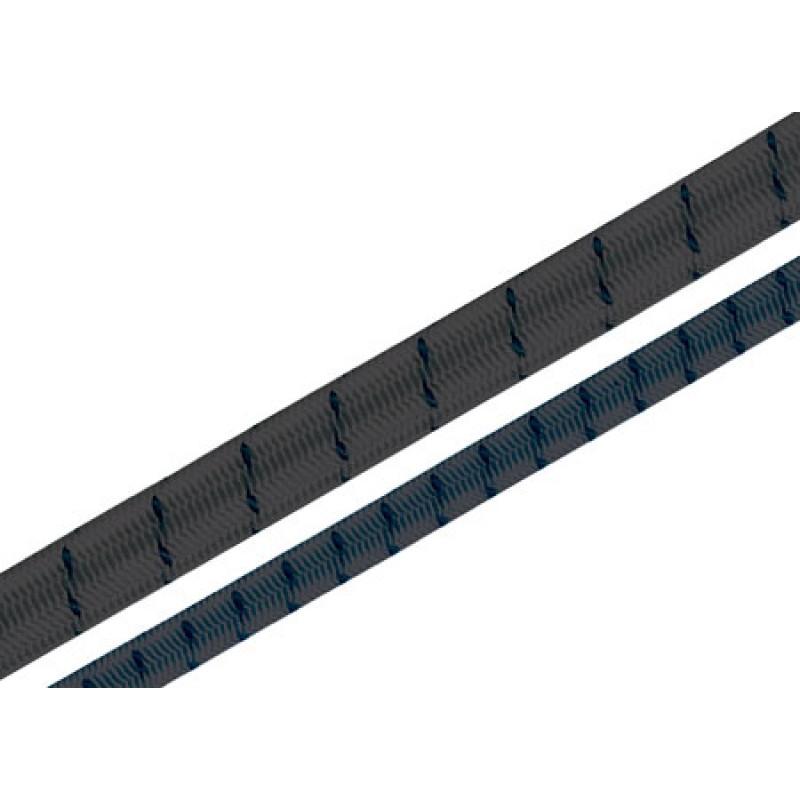 Cuerda Elastica 4mm color Negro 100mt