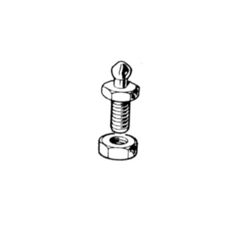 Loxx-Tenax screw with nut M5 x 10mm High Head