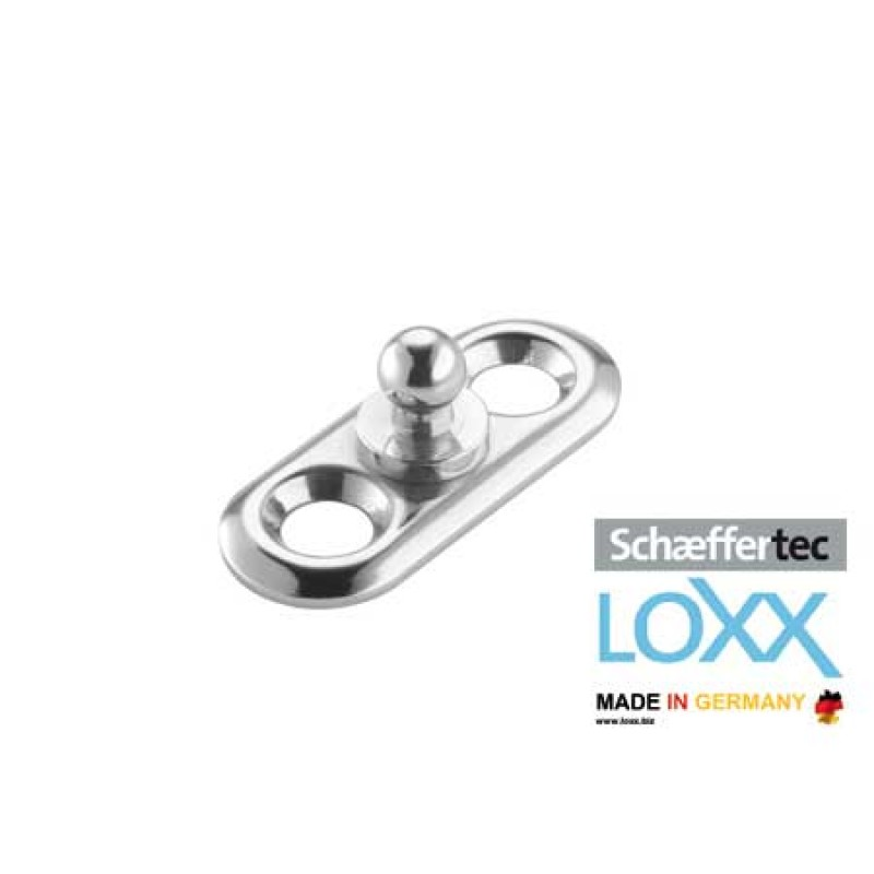 Loxx-Tenax HIGHT HEAD base plate Nickeled/Chromed Brass