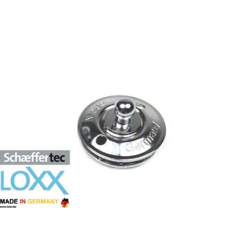 Loxx-Tenax fabric base connector made of Nickeled/Chromed Brass