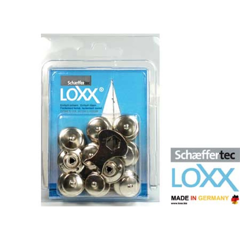 Chromed Nickel Brass automatic Loxx-Tenax 8 buttons blister