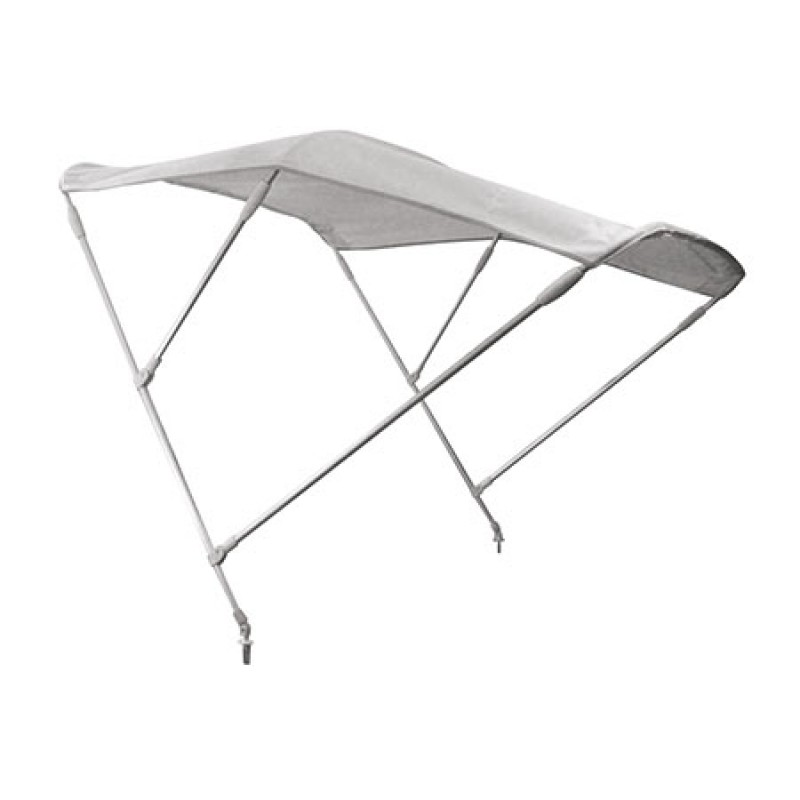 3 arches white stainless steel high bimini top 230 x 140 cm