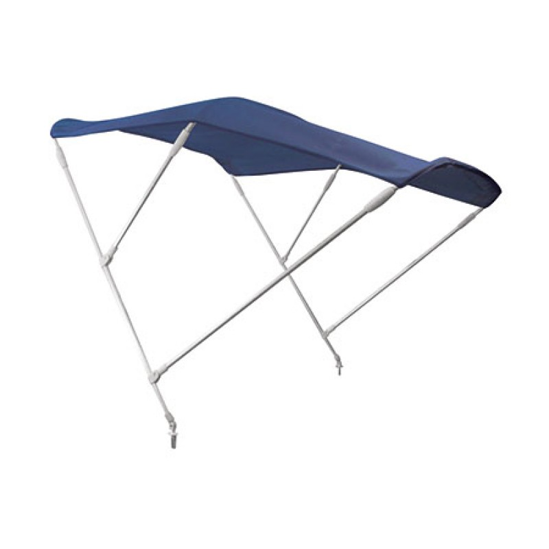 Blue Bimini Awning F3 with 3 arches W (width) 200 cm, L (length) 180 cm, H (height) 140 cm