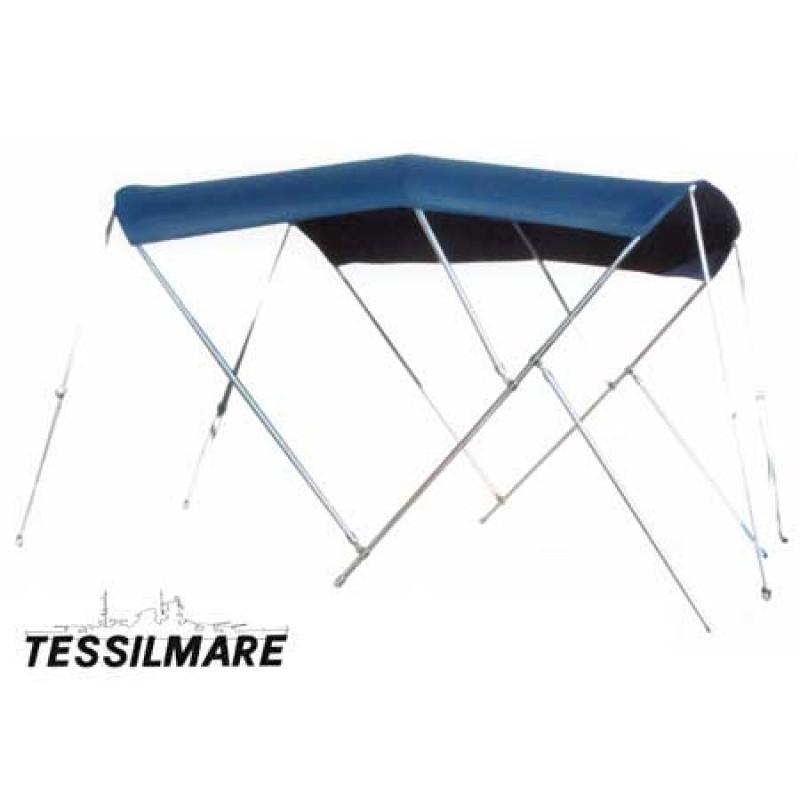 Tessilmare Bimini azul acero inoxidable 3 arcos 180 x 200 x H140cm