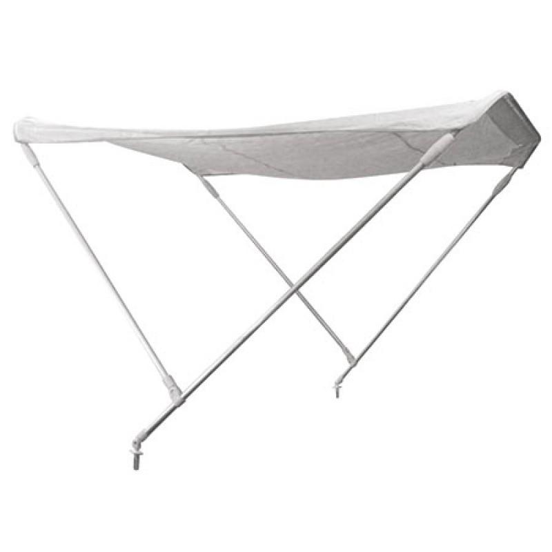 White nautical canopy F2 Aluminum 2 arches 150cm Width x 180cm Length x 110cm Height