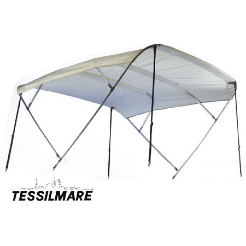 Awnings Bimini white with 4 arches W: 255 cm L: 225 cm H: 140 cm