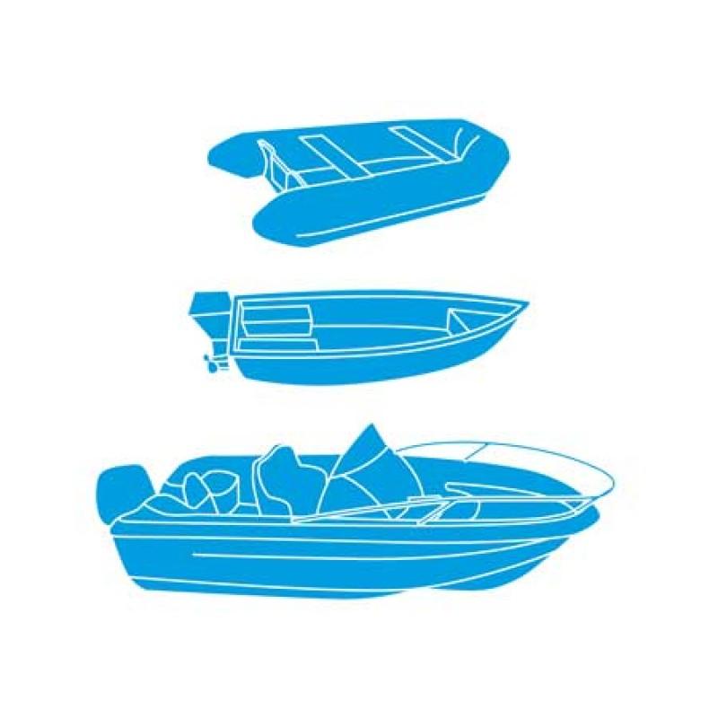 Lona Protectora de Embarcaciones Azul XXXL ajustable de 700 a 780 cm