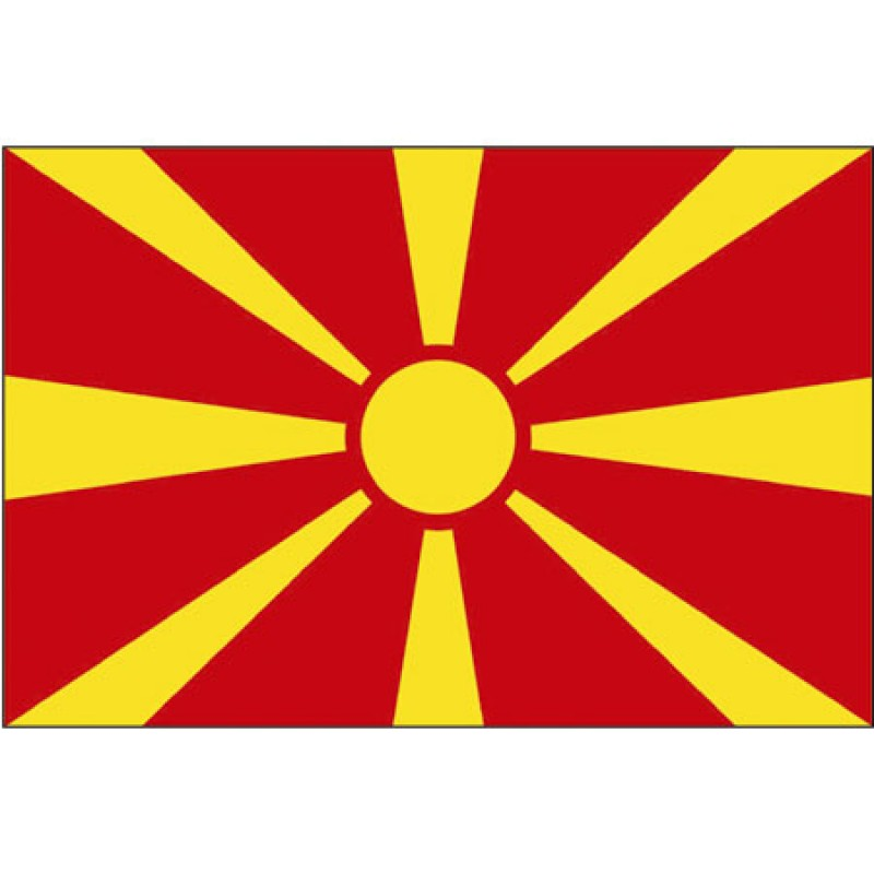 Bandera de Macedonia 30x45cm