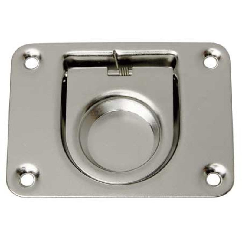 Stainless Steel flush lifting handles 57x76mm