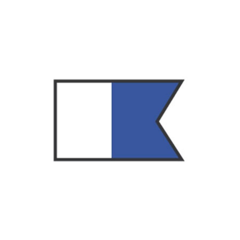 Bandera de señal A: Alfa 20 x 30 cm