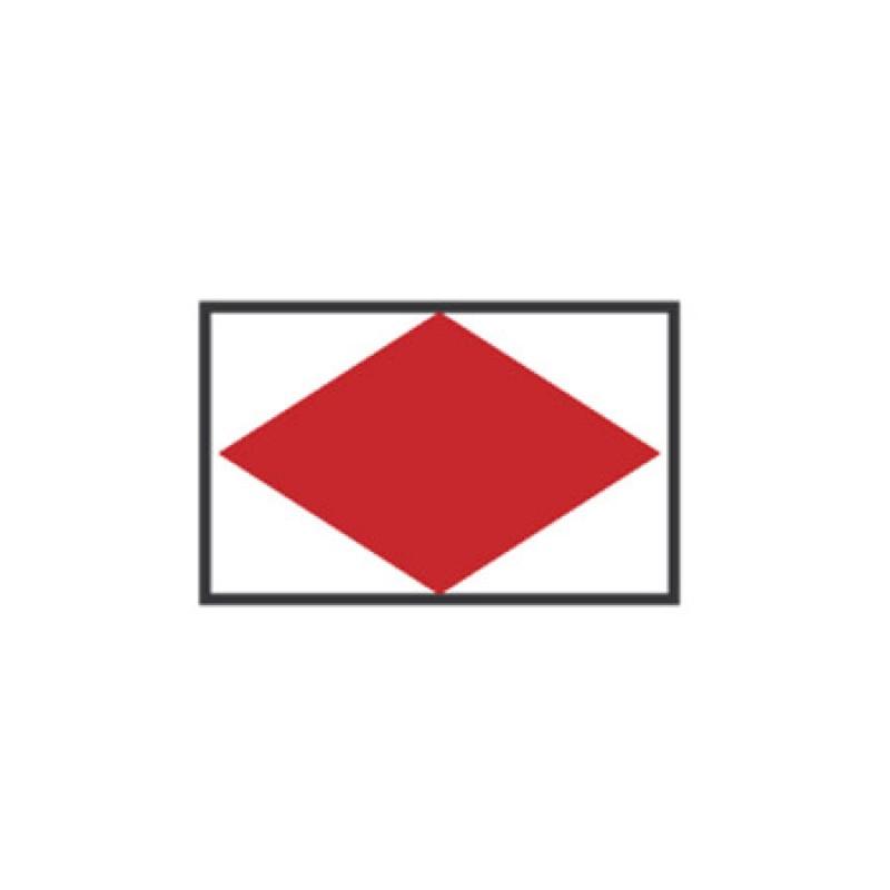 Banderas de Señales: F FOXTROT 40X60CM