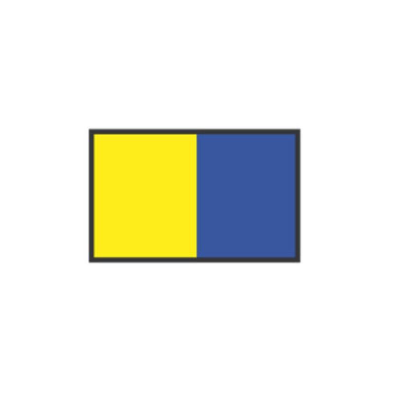 Banderas de Señales: K KILO 40X60CM