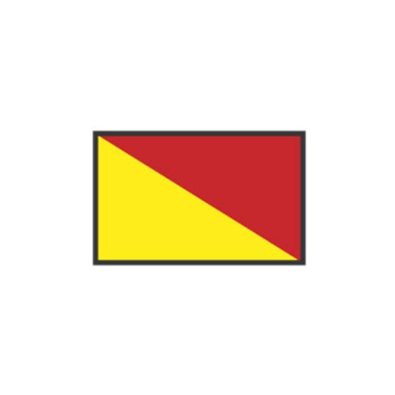 Banderas de Señales: O OSCAR 40X60CM