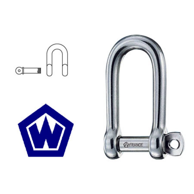 316 Stainless Steel shackle Wichard long Dee D10