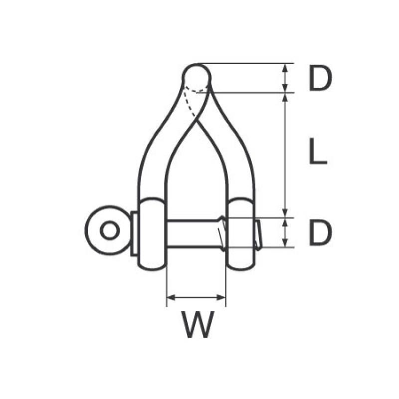 Grillete WICHARD Torcido 6 mm