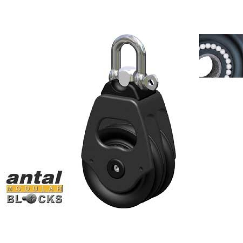 50mm Double Antal Pulley with 10mm Cabo jaw
