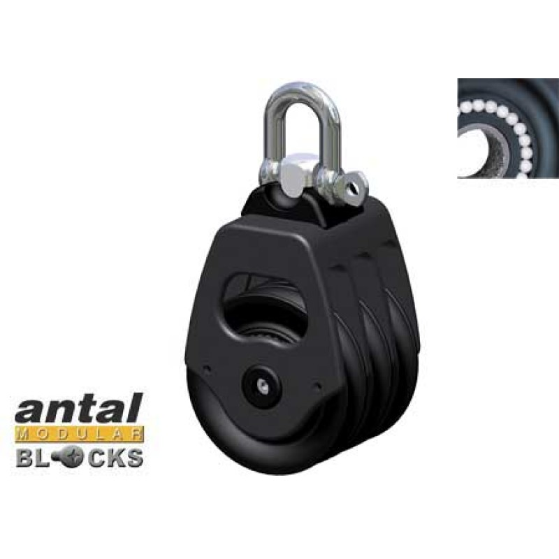 50mm Triple Antal Pulley 10mm Cabo