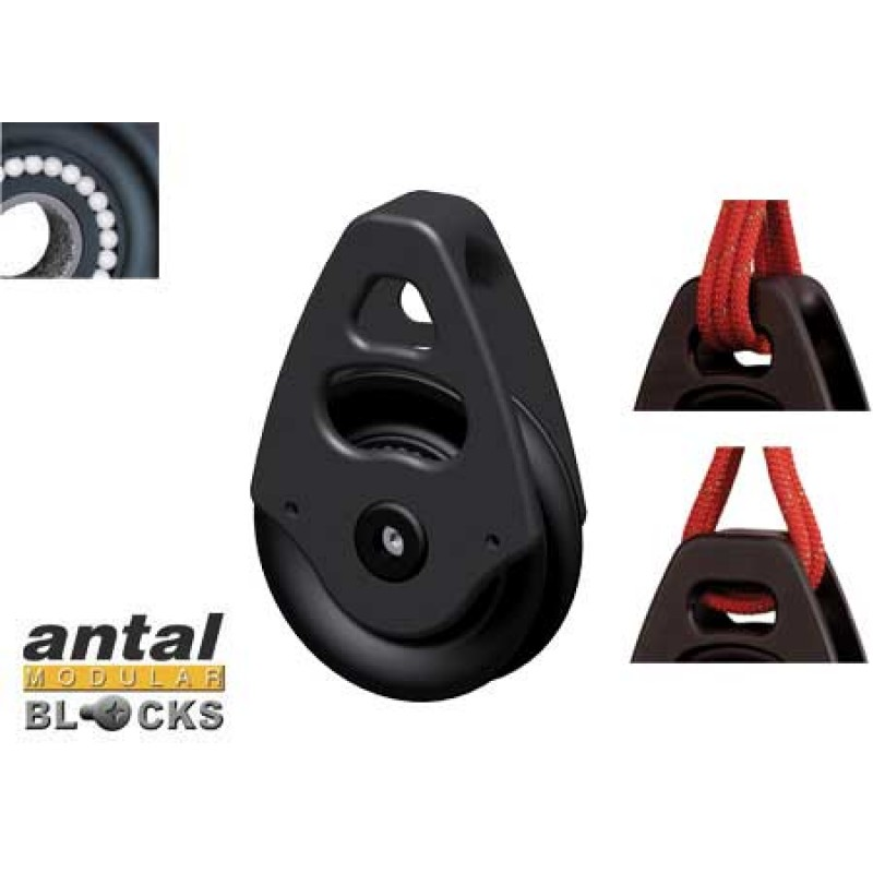 Pulley without shackle Antal 60mm 12mm end