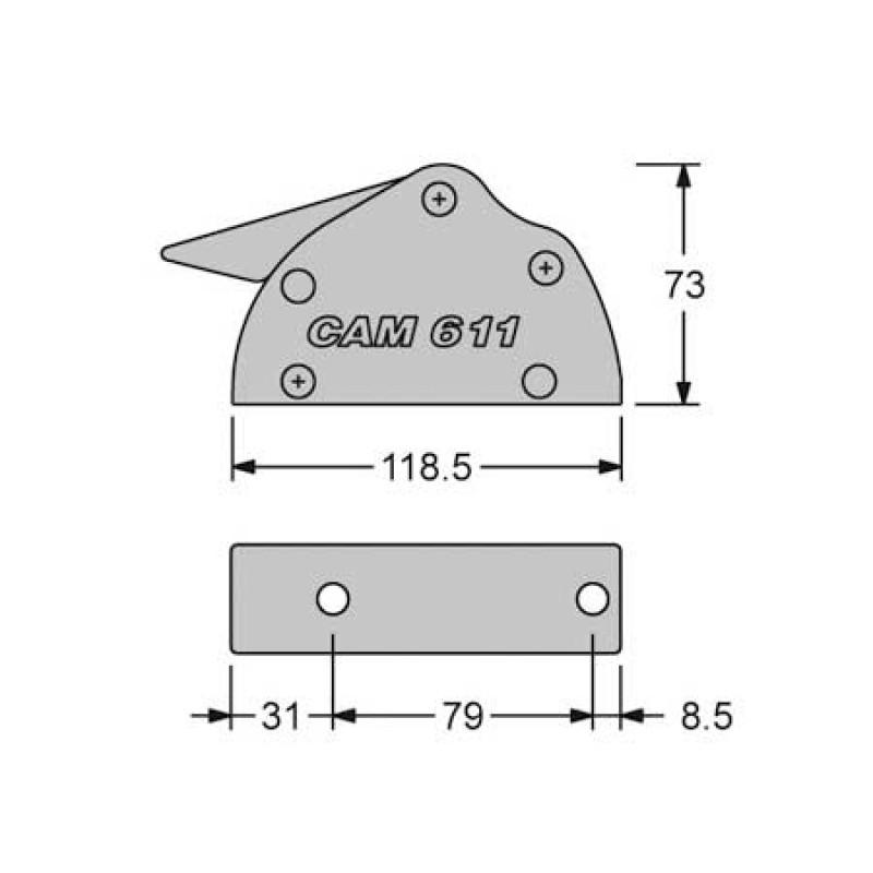 Antal Triple cam 6-11mm line stopper