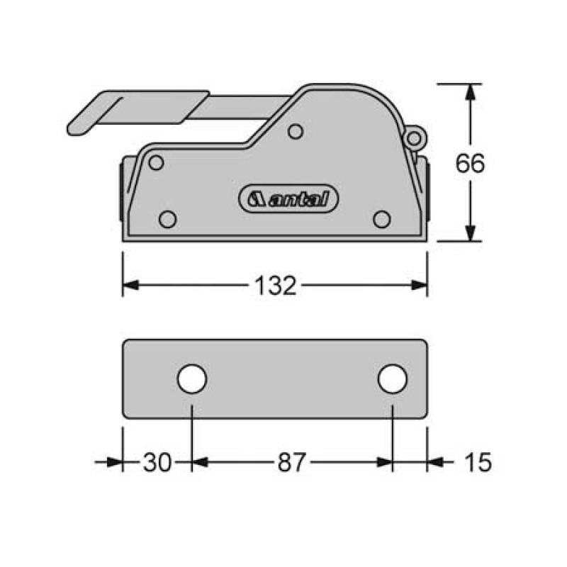 Stopper Antal V-Grip Double 8<12mm