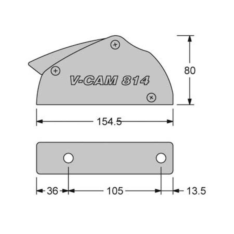 Stopper Antal V-Cam 814 Double 8<10mm