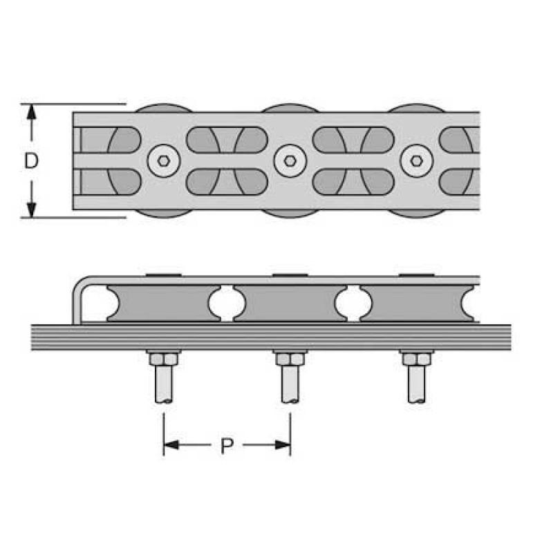 Organizador de cubierta Antal V-cam 814 2 ruedas - 16 mm