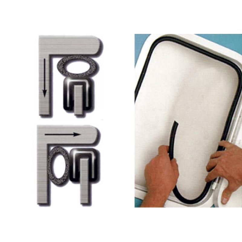 Perfil de Estanqueidad Lateral Portillos 9mm diametro x 3-5mm de pared