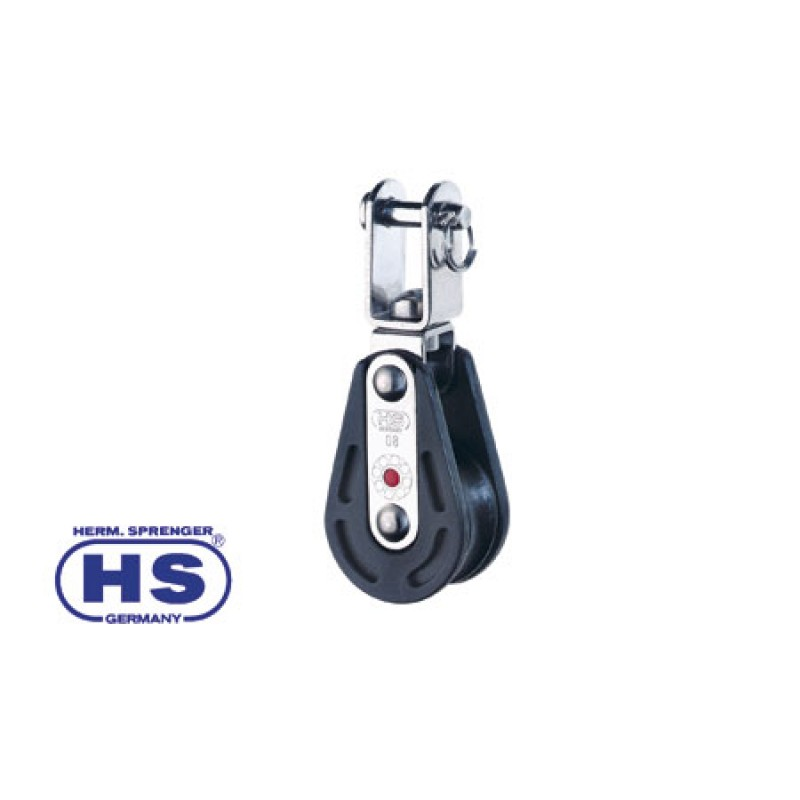 Ball bearing HS blocks for sheets up to 8 mm Single Swivel with Shackle