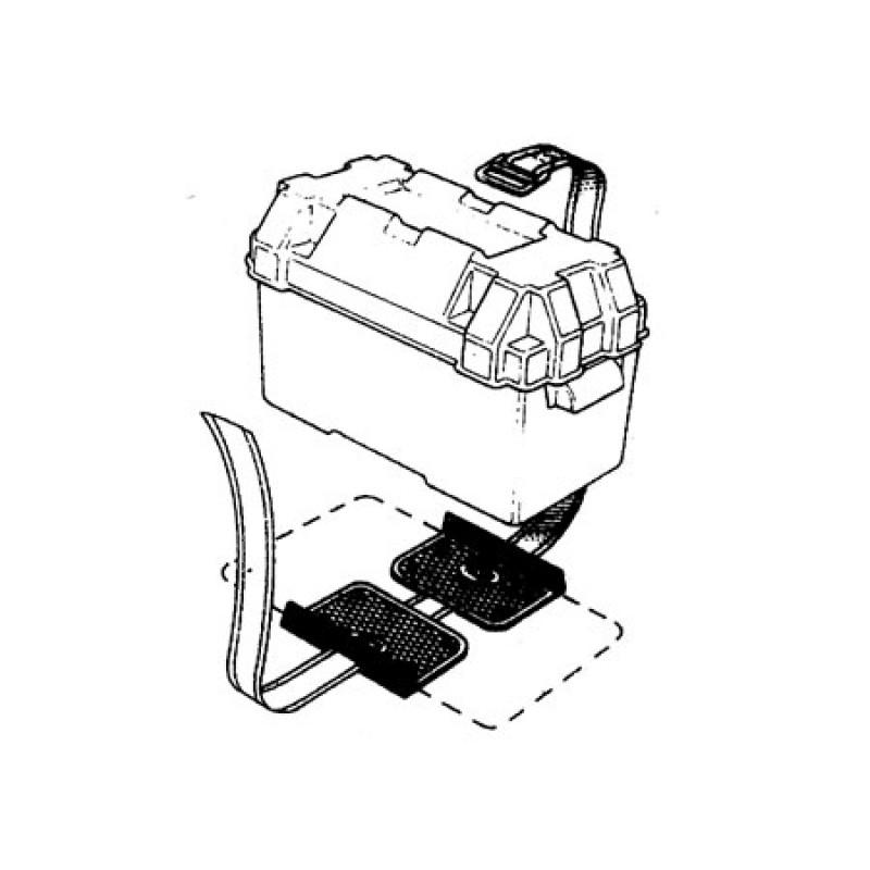 Soporte con Cinchas para baterias y Depositos