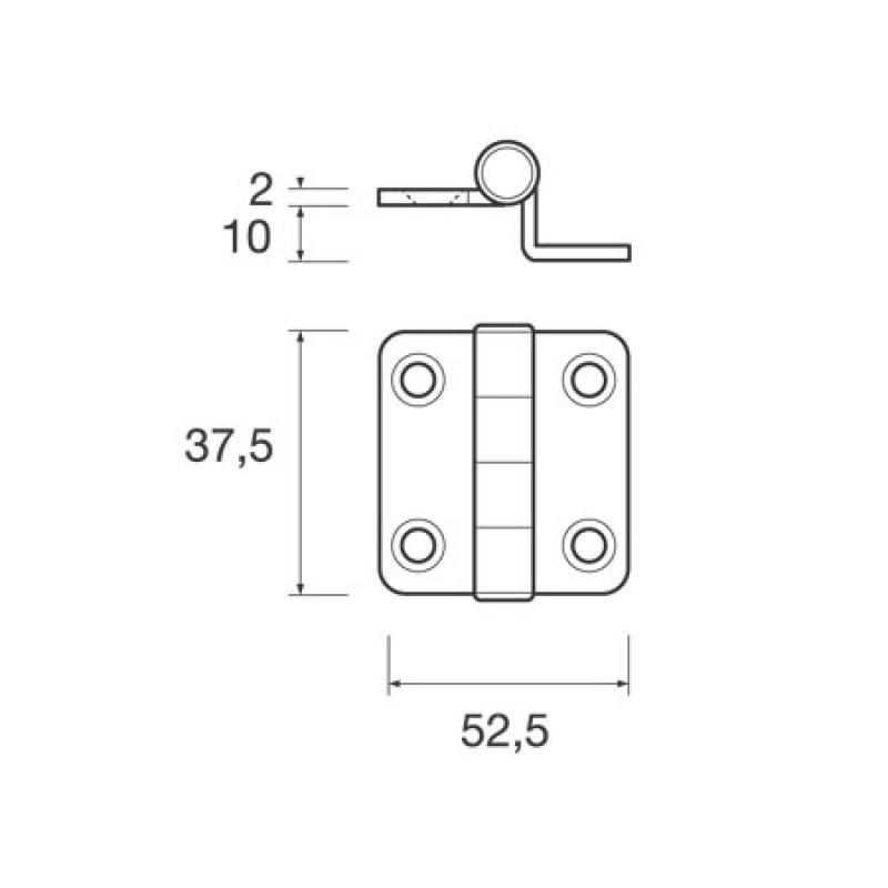 Mini offset hinge