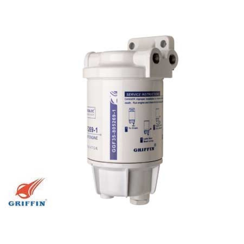 Gasoline filter/water separator for inboard and outboard engines 227lt /m