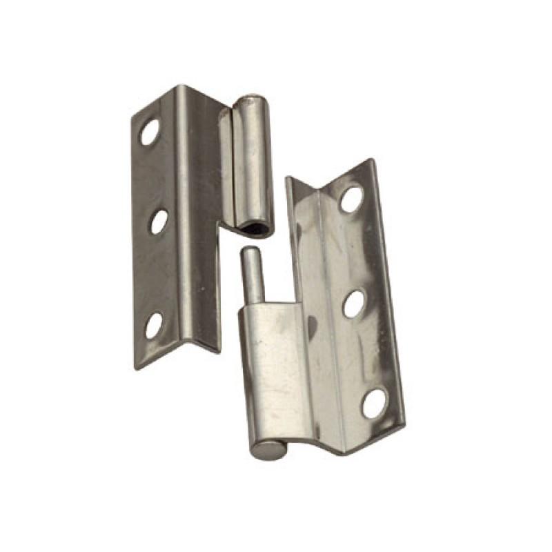 Stainless steel offset hinge Left H55 L19 / 16mm