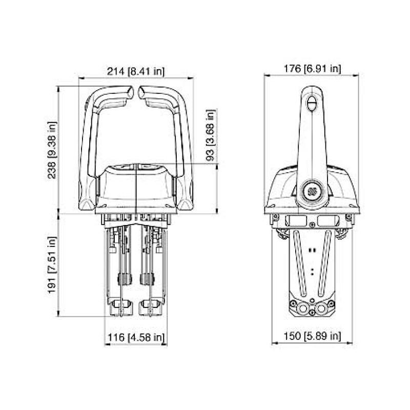 Mando Morse B501bt 1 palanca negro con trim