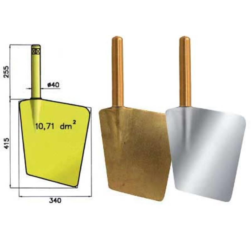 Pala Timón D11 de bronce 7-9mt de eslora