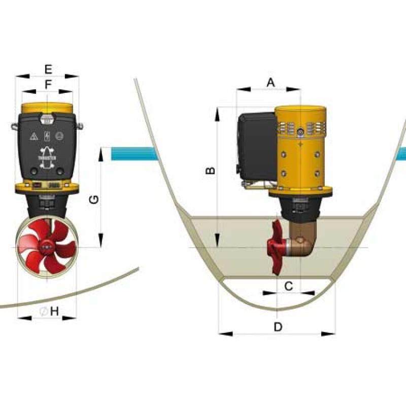 Bow thruster Vetus V60 24V