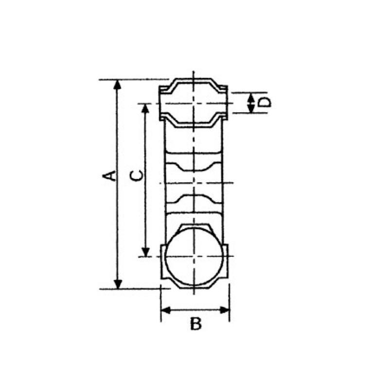 Acoplamiento flexible Ejes a Reductoras 115mm 1400 series