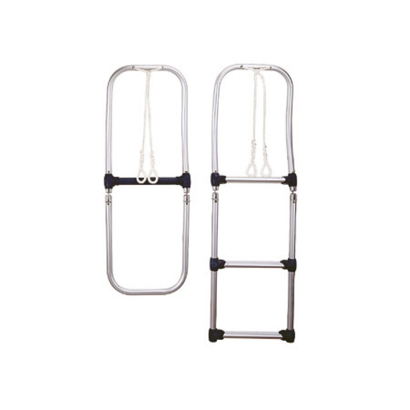 Aluminum folding boarding ladders 4 steps for inflatable Boats