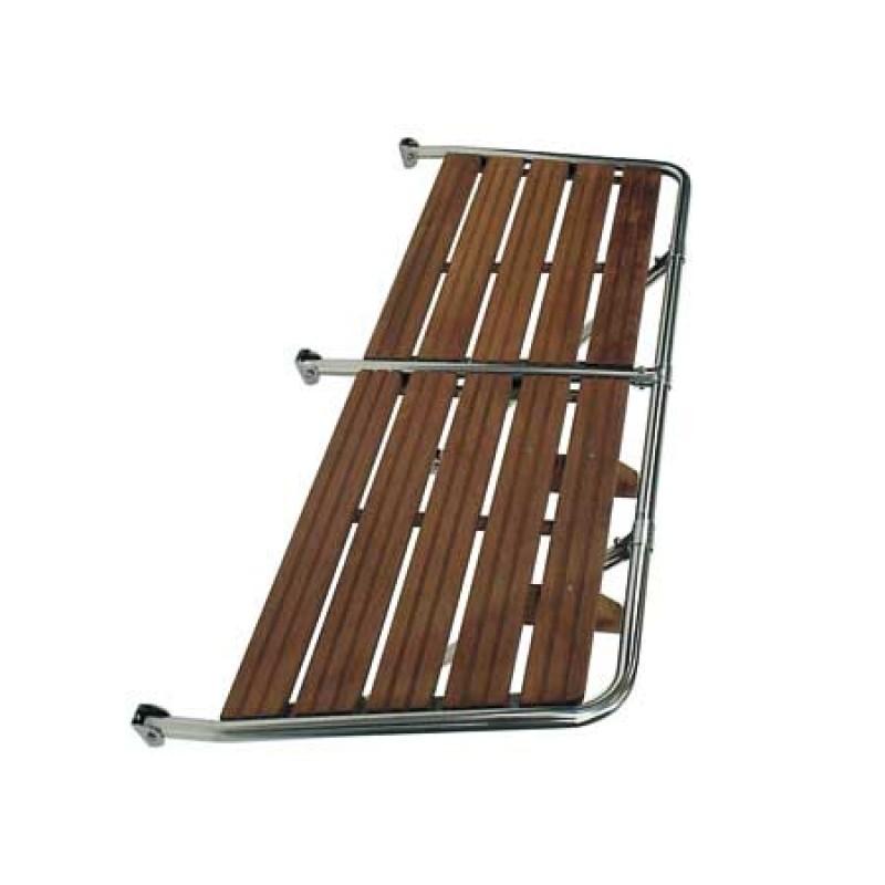 Plataforma de Baño Inox y Madera 1500 x 550mm