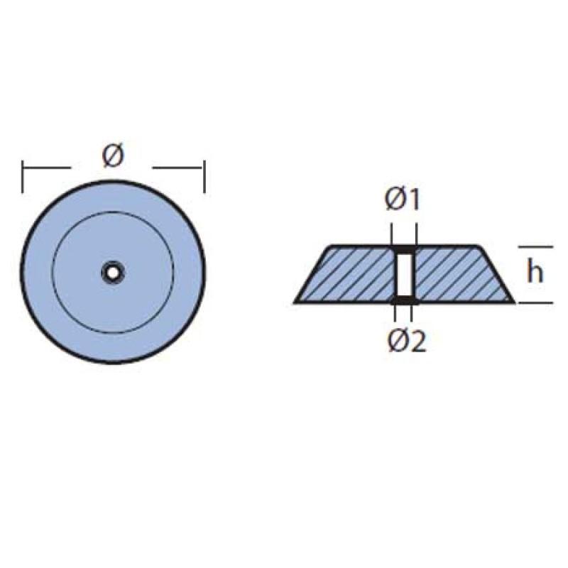 Anodo Hamilton Idrojet 292 98mm