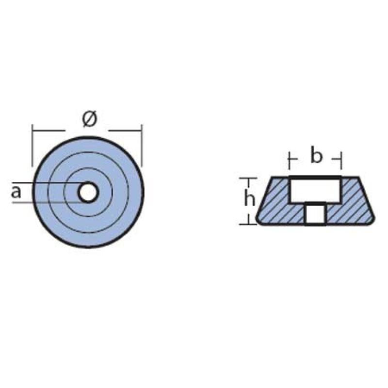 Motor del ánodo de la lavadora Kamewa