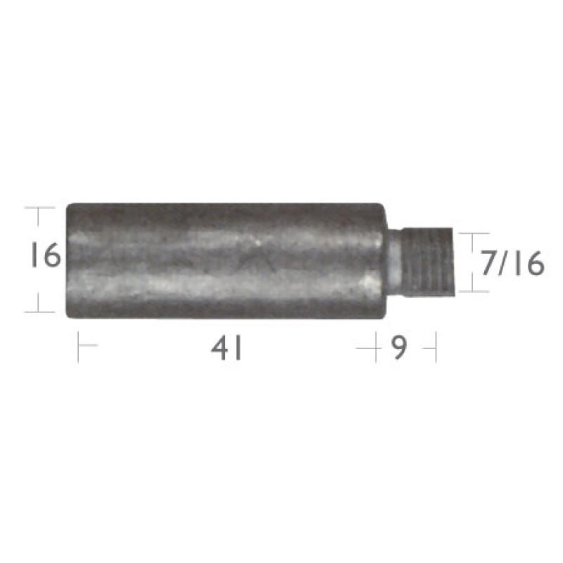 Caterpillar engine (16x41mm) pencil anodes