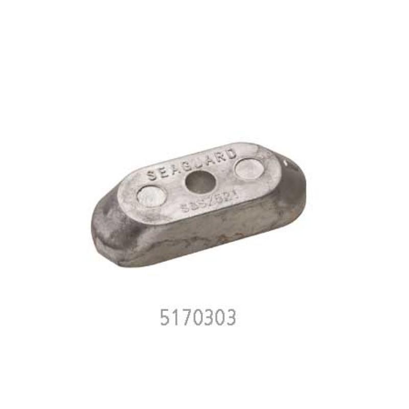 Anodo de aluminio Martyr Placa de 1 orificio 48 x 18 x H11 41811-98500-000 Fuerabordas Suzuki