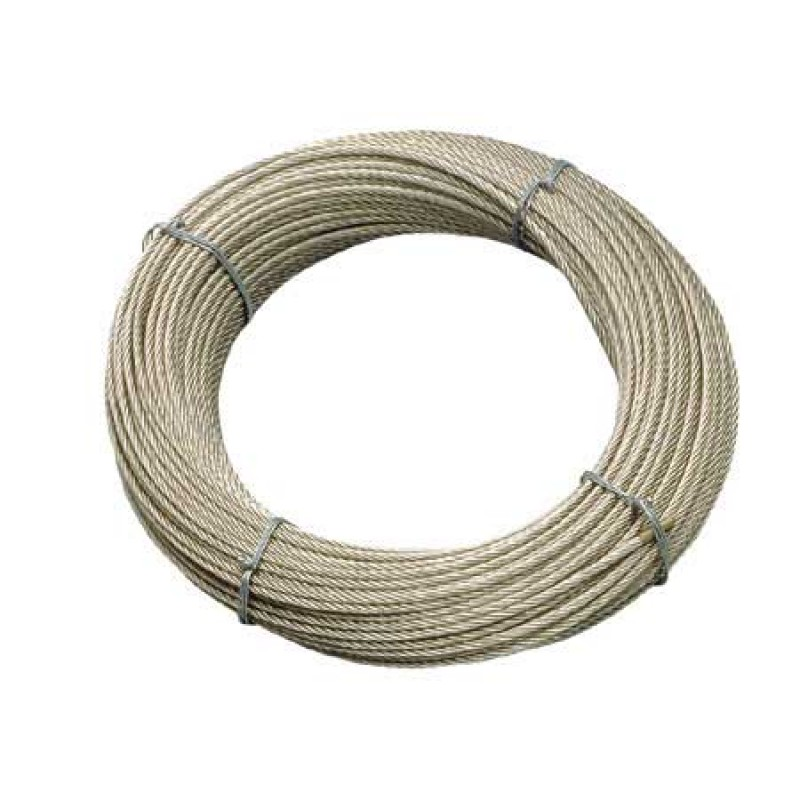 Cable de acero inoxidable 8mm x 50mt - 49 hilos