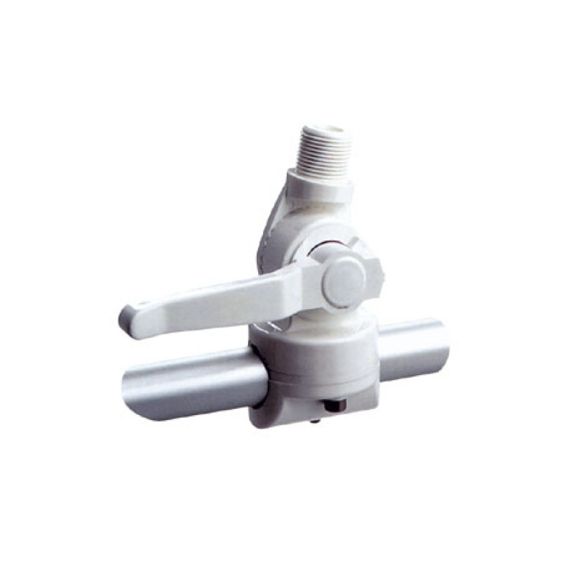 Nylon clamp-on lever base