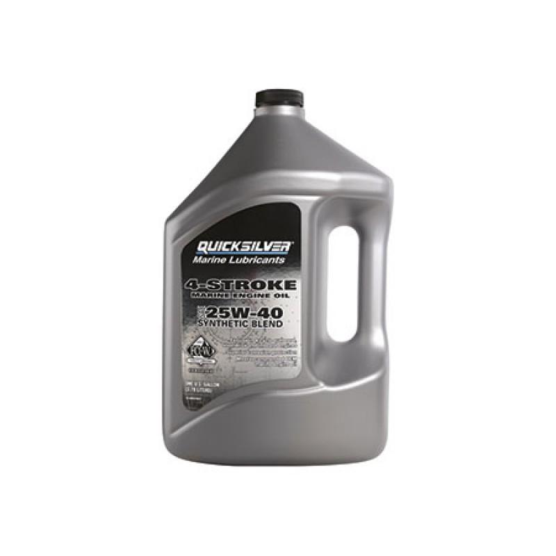 Aceite de 4 Tiempos Quicksilver Sintetico 25w-40 4lt
